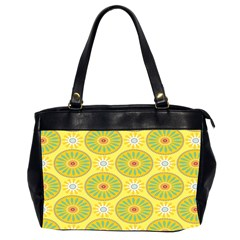 Sunflower Floral Yellow Blue Circle Office Handbags (2 Sides)  by Alisyart