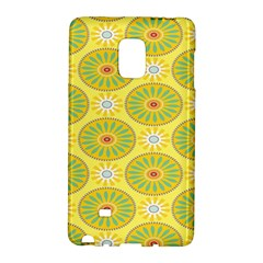 Sunflower Floral Yellow Blue Circle Galaxy Note Edge by Alisyart
