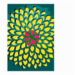 Sunflower Flower Floral Pink Yellow Green Small Garden Flag (two Sides) by Alisyart