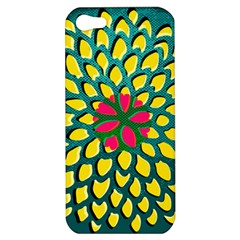 Sunflower Flower Floral Pink Yellow Green Apple Iphone 5 Hardshell Case by Alisyart