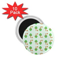 Tree Circle Green Yellow Grey 1 75  Magnets (10 Pack)  by Alisyart