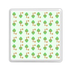Tree Circle Green Yellow Grey Memory Card Reader (square)  by Alisyart