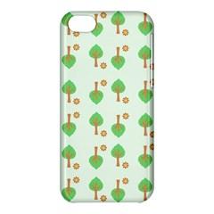 Tree Circle Green Yellow Grey Apple Iphone 5c Hardshell Case by Alisyart