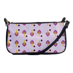 Tree Circle Purple Yellow Shoulder Clutch Bags by Alisyart