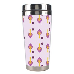 Tree Circle Purple Yellow Stainless Steel Travel Tumblers by Alisyart