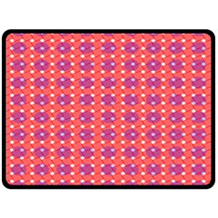 Roll Circle Plaid Triangle Red Pink White Wave Chevron Fleece Blanket (large)  by Alisyart