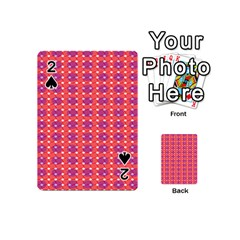 Roll Circle Plaid Triangle Red Pink White Wave Chevron Playing Cards 54 (mini)  by Alisyart
