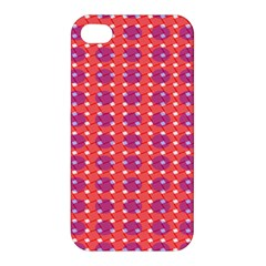 Roll Circle Plaid Triangle Red Pink White Wave Chevron Apple Iphone 4/4s Hardshell Case by Alisyart