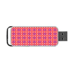 Roll Circle Plaid Triangle Red Pink White Wave Chevron Portable Usb Flash (one Side) by Alisyart