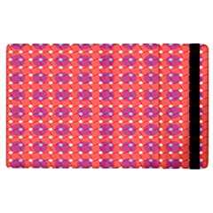 Roll Circle Plaid Triangle Red Pink White Wave Chevron Apple Ipad 2 Flip Case by Alisyart