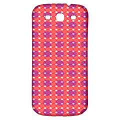 Roll Circle Plaid Triangle Red Pink White Wave Chevron Samsung Galaxy S3 S Iii Classic Hardshell Back Case by Alisyart