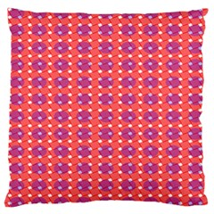 Roll Circle Plaid Triangle Red Pink White Wave Chevron Standard Flano Cushion Case (two Sides) by Alisyart