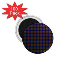 Tartan Fabrik Plaid Color Rainbow 1 75  Magnets (100 Pack)  by Alisyart