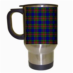 Tartan Fabrik Plaid Color Rainbow Travel Mugs (white) by Alisyart