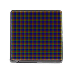 Tartan Fabrik Plaid Color Rainbow Memory Card Reader (square) by Alisyart