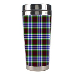 Tartan Fabrik Plaid Color Rainbow Triangle Stainless Steel Travel Tumblers by Alisyart
