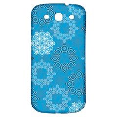 Flower Star Blue Sky Plaid White Froz Snow Samsung Galaxy S3 S Iii Classic Hardshell Back Case by Alisyart