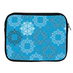 Flower Star Blue Sky Plaid White Froz Snow Apple Ipad 2/3/4 Zipper Cases by Alisyart