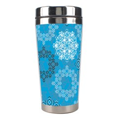 Flower Star Blue Sky Plaid White Froz Snow Stainless Steel Travel Tumblers by Alisyart