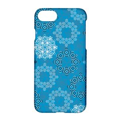 Flower Star Blue Sky Plaid White Froz Snow Apple Iphone 7 Hardshell Case by Alisyart