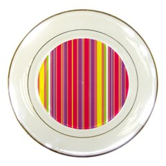 Stripes Colorful Background Porcelain Plates by Simbadda