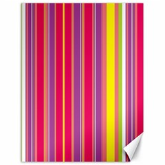 Stripes Colorful Background Canvas 18  X 24   by Simbadda