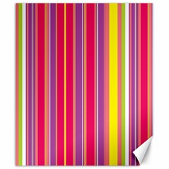 Stripes Colorful Background Canvas 20  X 24   by Simbadda