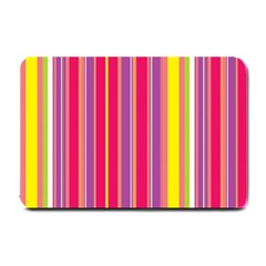 Stripes Colorful Background Small Doormat  by Simbadda