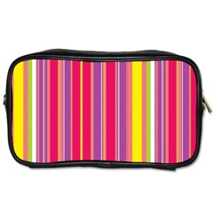 Stripes Colorful Background Toiletries Bags 2 Side by Simbadda
