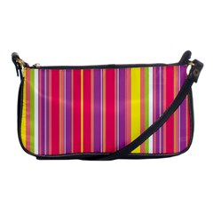 Stripes Colorful Background Shoulder Clutch Bags by Simbadda