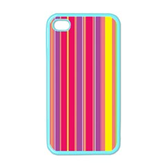 Stripes Colorful Background Apple Iphone 4 Case (color) by Simbadda