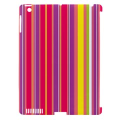 Stripes Colorful Background Apple Ipad 3/4 Hardshell Case (compatible With Smart Cover) by Simbadda