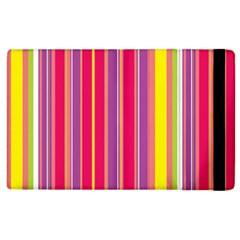 Stripes Colorful Background Apple Ipad 3/4 Flip Case by Simbadda