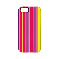 Stripes Colorful Background Apple Iphone 5 Classic Hardshell Case (pc+silicone) by Simbadda