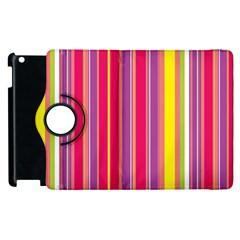 Stripes Colorful Background Apple Ipad 2 Flip 360 Case by Simbadda
