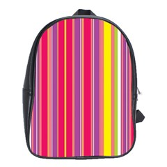 Stripes Colorful Background School Bags (xl)  by Simbadda