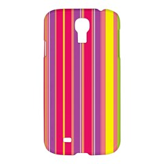 Stripes Colorful Background Samsung Galaxy S4 I9500/i9505 Hardshell Case by Simbadda