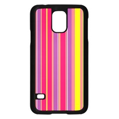 Stripes Colorful Background Samsung Galaxy S5 Case (black) by Simbadda