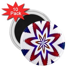 Fractal Flower 2 25  Magnets (10 Pack)  by Simbadda