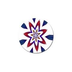 Fractal Flower Golf Ball Marker (10 Pack) by Simbadda
