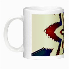 Fractal Flower Night Luminous Mugs by Simbadda