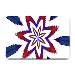Fractal Flower Small Doormat  by Simbadda
