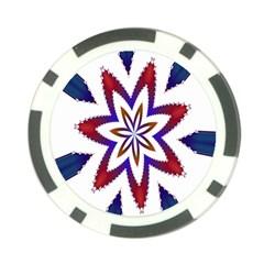 Fractal Flower Poker Chip Card Guard by Simbadda
