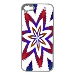 Fractal Flower Apple Iphone 5 Case (silver) by Simbadda