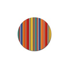 Stripes Background Colorful Golf Ball Marker by Simbadda