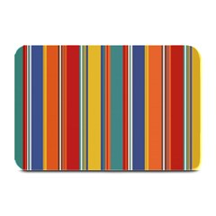 Stripes Background Colorful Plate Mats by Simbadda