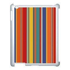 Stripes Background Colorful Apple Ipad 3/4 Case (white) by Simbadda