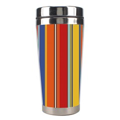 Stripes Background Colorful Stainless Steel Travel Tumblers by Simbadda
