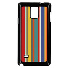 Stripes Background Colorful Samsung Galaxy Note 4 Case (black) by Simbadda