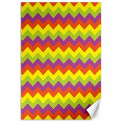 Colorful Zigzag Stripes Background Canvas 12  X 18   by Simbadda